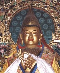 【國家心靈藝術寶藏】~藏傳佛法普照-宗喀巴大師師徒三尊金銅雕唐卡