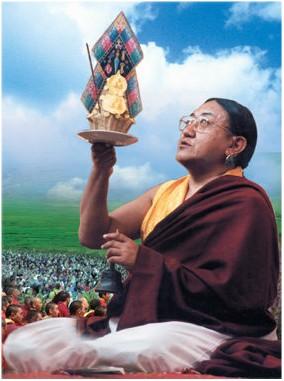 禮請薩迦法王僧團為四川地震與緬甸風災受難者舉行超度大法會